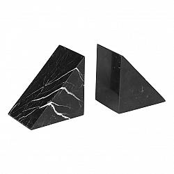 Blomus Knižné zarážky mramorové 2 kusy PESA čierne