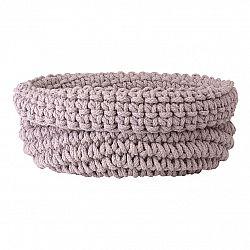 Blomus Pletený bavlnený košík COBO svetloružový
