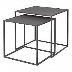 Blomus Súprava 2 ks konferenčných stolíkov FERA sivá