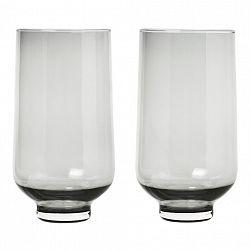 Blomus Súprava 2 pohárov FLOW dymové sklo 0,4 l