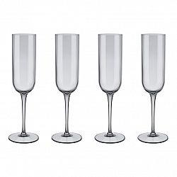Blomus Súprava 4 pohárov flauta na šampanské FUUM dymové sklol