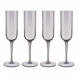 Blomus Súprava 4 pohárov flauta na šampanské FUUM hnedé sklo