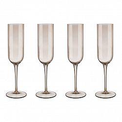 Blomus Súprava 4 pohárov flauta na šampanské FUUM zlatisté sklo