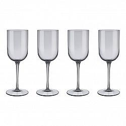 Blomus Súprava 4 pohárov na biele víno FUUM dymové sklo