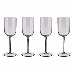 Blomus Súprava 4 pohárov na biele víno FUUM hnedé sklo