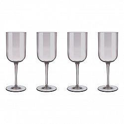 Blomus Súprava 4 pohárov na červené víno FUUM hnedé sklo