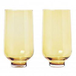 Blomus Súprava pohárov FLOW matná zlatá 0,4 l