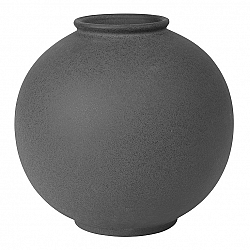Blomus Váza RUDEA sivočierna Ø 22,5 cm