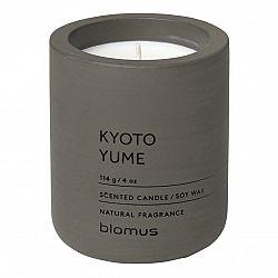 Blomus Vonná sviečka zo sójového vosku FRAGA tmavohnedá Ø 6,5 cm