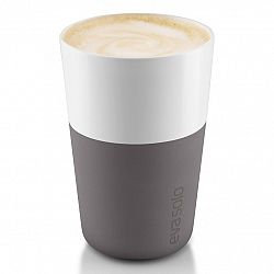 Eva Solo Termohrnčeky na café latte 360 ml 2 kusy sivé