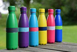 Fľaška TWEE+ Boddels tmavomodrá/jablkovo zelená 500 ml