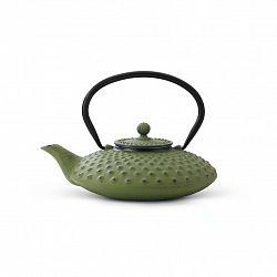 Liatinová kanvica na čaj Xilin Bredemeijer zelená 800 ml