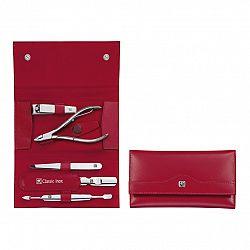 Manikúra 5-dielna ZWILLING® Classic Inox červená s kliešťami