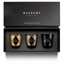 Meadows Darčeková kolekcia 3 vonných sviečok mini Shadow Dance