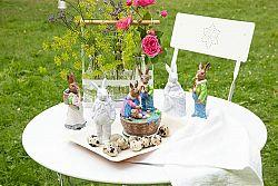 Porcelánový králik s košom Rabbit Collection Rosenthal biely 14 cm