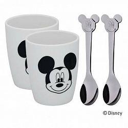 Sada dvoch šálok s lyžičkami Mickey Mouse WMF