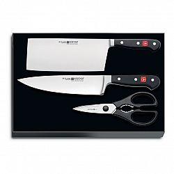 WÜSTHOF Súprava nožov s nožnicami 3-dielna Classic
