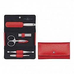 ZWILLING Manikúra 5-dielna TWINOX® Dauphine červená s klieštikmi